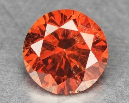 0.10 Cts Natural Orangish Red Diamond Roun Africa