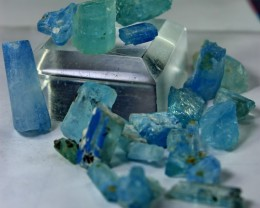 150 Cts Unheated, Natural & Stunning  Aquamarine Rough