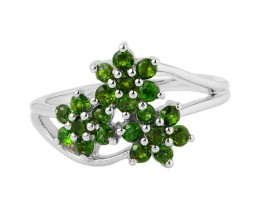 Chrome diopside 925 Sterling silver ring