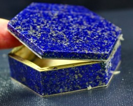 491 CT Natural lapis lazuli Carved Box Stone Special Shape