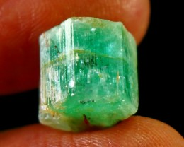 11.40CT Natural - Unheated Green  Emerald Crystal
