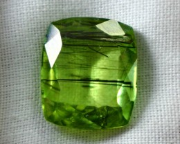 7.40 CT Natural - Unheated Green Color Ruitilated Peridot