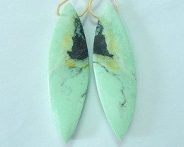 Hot! 47X14X5MM Natural Green Turquoise Marquoise Earrings For Women(1712150