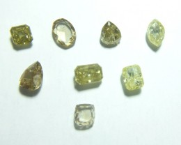 7.65ct Fancy Yellow and Brown Diamond Parcel, 8 pieces