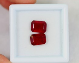 NR Lot 13 ~ 4.42Ct Natural VS Clarity Blood Red Color Ruby
