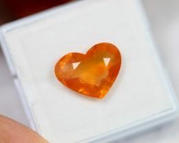 Lot 06 ~ 6.63Ct Natural Ceylon Yellow Sapphire Heart Cut