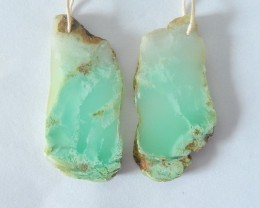 48CT Natural Nugget Chrysoprase Earrings For Women(17121703)