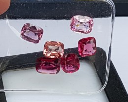 12cts Burma Spinel Parcel, 6 stones,  100% Untreated,