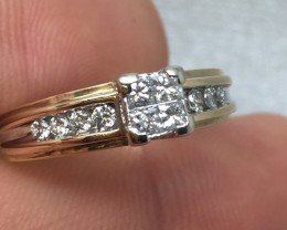 Gorgeous $2700 Nat 1.00cts. Pincess Cut Diamond Engagement Ring Untreated