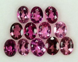 2.08 Cts Natural Sweet Pink Tourmaline 12 Pcs Oval (4x3 mm) Mozambique