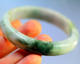 Green Jadeite Jade Bangle Bracelet 247.5ct. 55.8mm