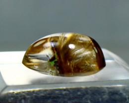 10.40 CT Natural - Unheated Golden Ruitlated Quartz Cabochon