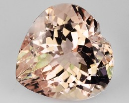 2.04 Cts Natural Morganite Peach Pink Heart Brazil