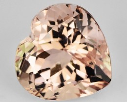 1.94 Cts Natural Morganite Peach Pink Heart Brazil