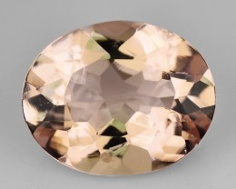 2.09 Cts Natural Morganite Peach Pink Oval Brazil