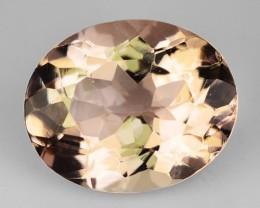2.47 Cts Natural Morganite Peach Pink Oval Brazil