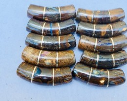 Re Sellers deal 10 pc ironstone silver curve beads  PPP 2001