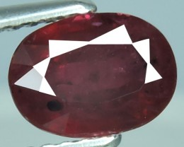 1.55 Cts Tremendous Pigeon Red Oval Shape Natural Mozambiq Ruby