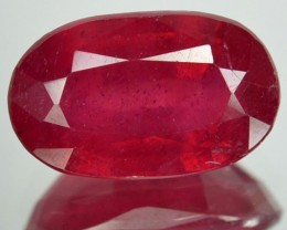 4.55 Cts Natural Corundum Ruby Pigeon Blood Red Oval Mozambique