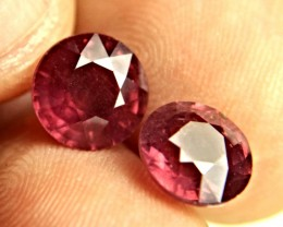 9.03 Tcw. Matched Round Cut Rubies - Gorgeous