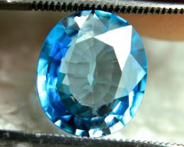 CERTIFIED - 5.13 Carat Blue VVS1 Southeast Asian Zircon