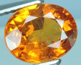 2.55 Cts EXQUISITE NATURAL UNHEATED FANTA 9MM ROUND SPESSARTITE NR!!!