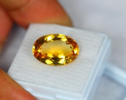 9.05Ct Natural Yellow Citrine Oval Cut Lot V296