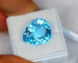 15.44Ct Natural Blue Topaz Pear Cut Lot V300
