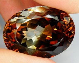 CERTIFIED  84.57ct ~ VVS ~ Imperial Topaz ~ Bi Colored  Beauty