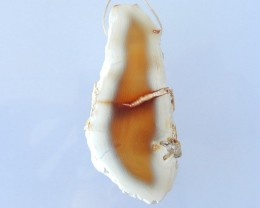 NEW ARRIVAL!!! 196.5CT Natural Nugget Alba Agate Necklace Pendant,Semitrans