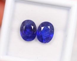 Lot 10 ~ 5.58Ct Natural VS Clarity Royal Blue Ceylon Sapphire Pair