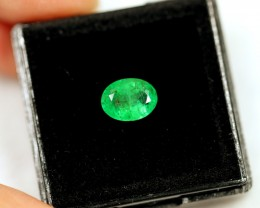 Lot 02 ~ 1.13Ct Natural VS Clarity Green Color Zambian Emerald