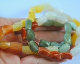 344.0Natural Grade A Mixed Color Jadeite Jade Necklace
