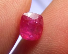 1.55cts Natural Pigeon blood Burmese Ruby , Untreated Gemstone