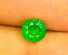 Top Color 1.15 ct Natural Emerald~Swat MJ.1