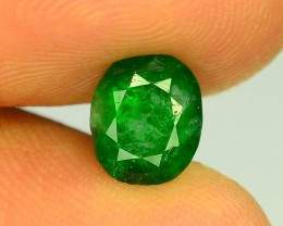 Top Color 1.35 ct Natural Emerald~Swat MJ.1