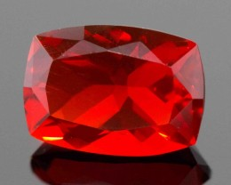 0.82 CT CHERRY MEXICAN FIRE OPAL!  MASTER CUT!  FLAWLESS!