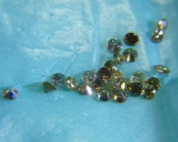 1.79ct Fancy Colored Diamond Parcel, 100% Natural Untreated