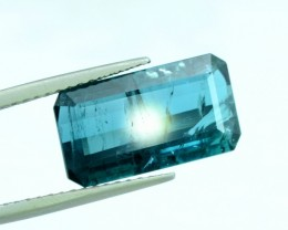 3.80 ct Emerald Cut Natural Indicolite Tourmaline from Afghanistan