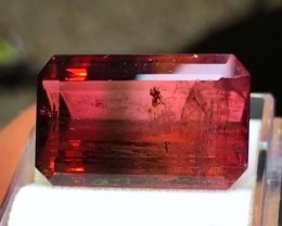 16.25 cts RED ORANGE TOURMALINE BICOLOR GEMSTONE
