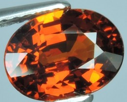 2.25 CTS Natural Reddish Orange Spessarite Garnet Oval Cut