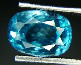3.0 Crt Natural Blue Zircon Faceted Gemstone (928)