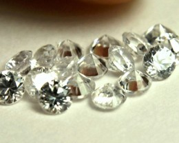 2.53 Tcw. White Zircon Accent Gems - 2.8mm - 19 Pcs.
