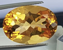 12.23ts, Citrine,Clean, Calibrated,  Top Cut