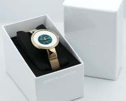 Original Ladies Gold Watch Mosaic Opal