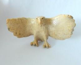 247ct Eagle Carving,Natural Indonesian Coral Handcarved Eagle Decoration(17