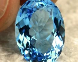 16.72 Carat VVS Blue Brazil Topaz - Gorgeous
