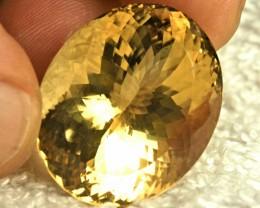 54.88 Carat Brazilian Golden VVS Citrine - Gorgeous
