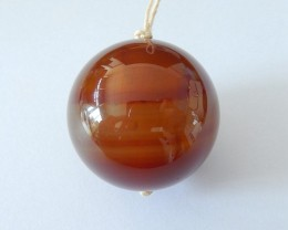 30X30MM Natural Agate Round Necklace Pendant Bead(17122502)