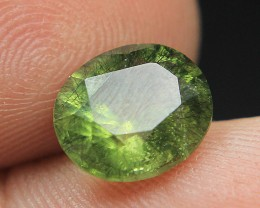 Wow Peridot hair-like Ludwigite inclusions From Pakistan Collector's Gem
